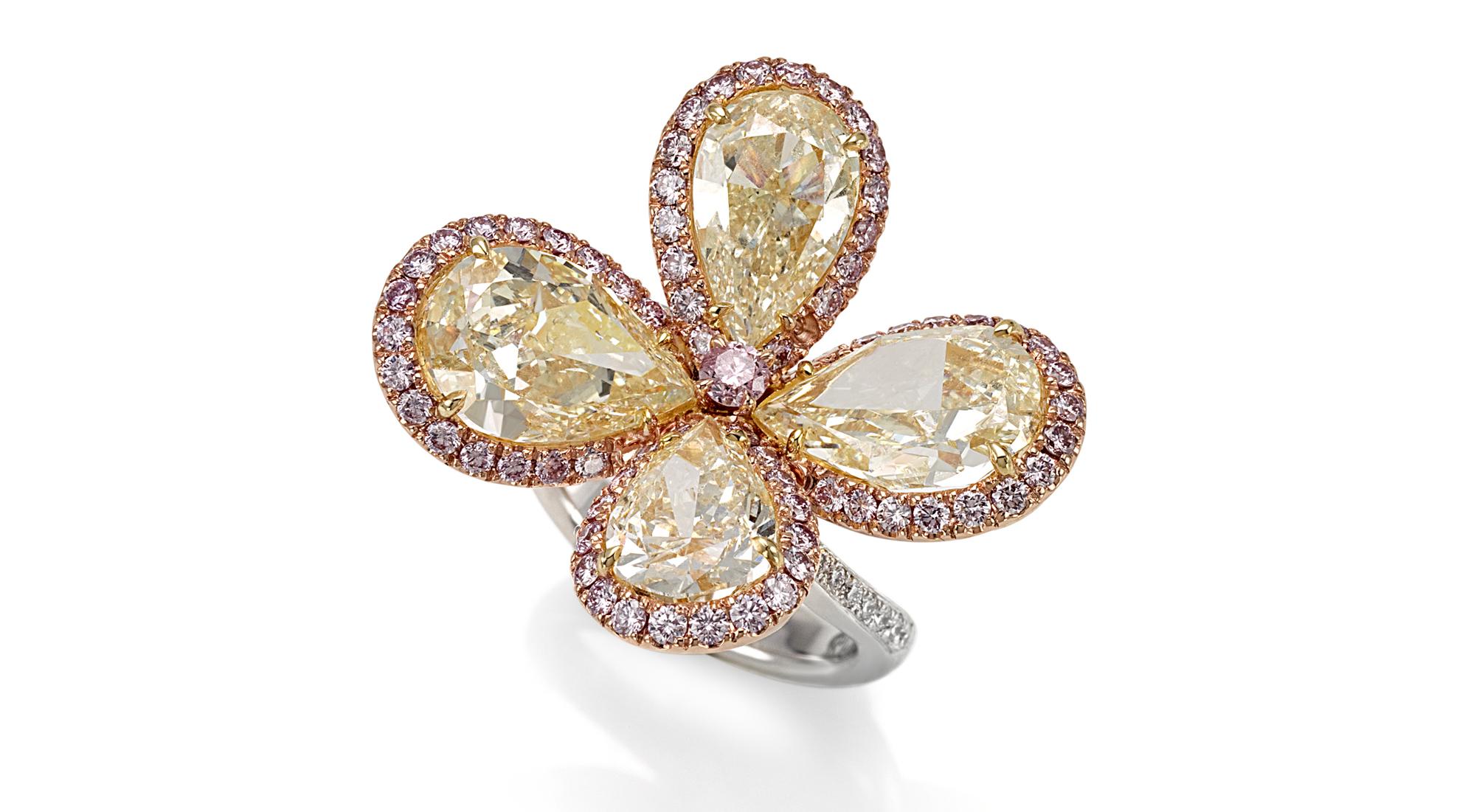 anello fiore fancy