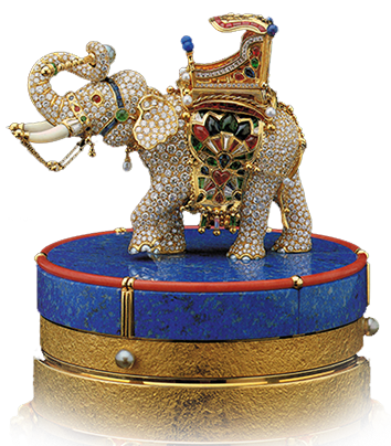 gold and diamonds elephant