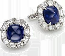 cufflinks sapphire