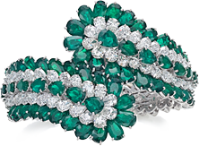bracciale smeraldi