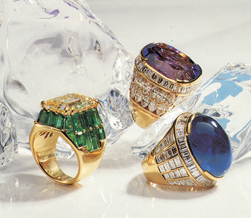 gold and diamonds rings
